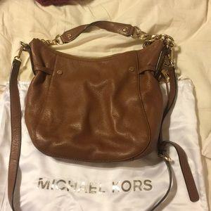 Brown leather Michael Kors handbag
